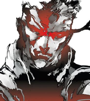 il volto stilizzato di solid snake nella copertina di metal gear solid - nerdface