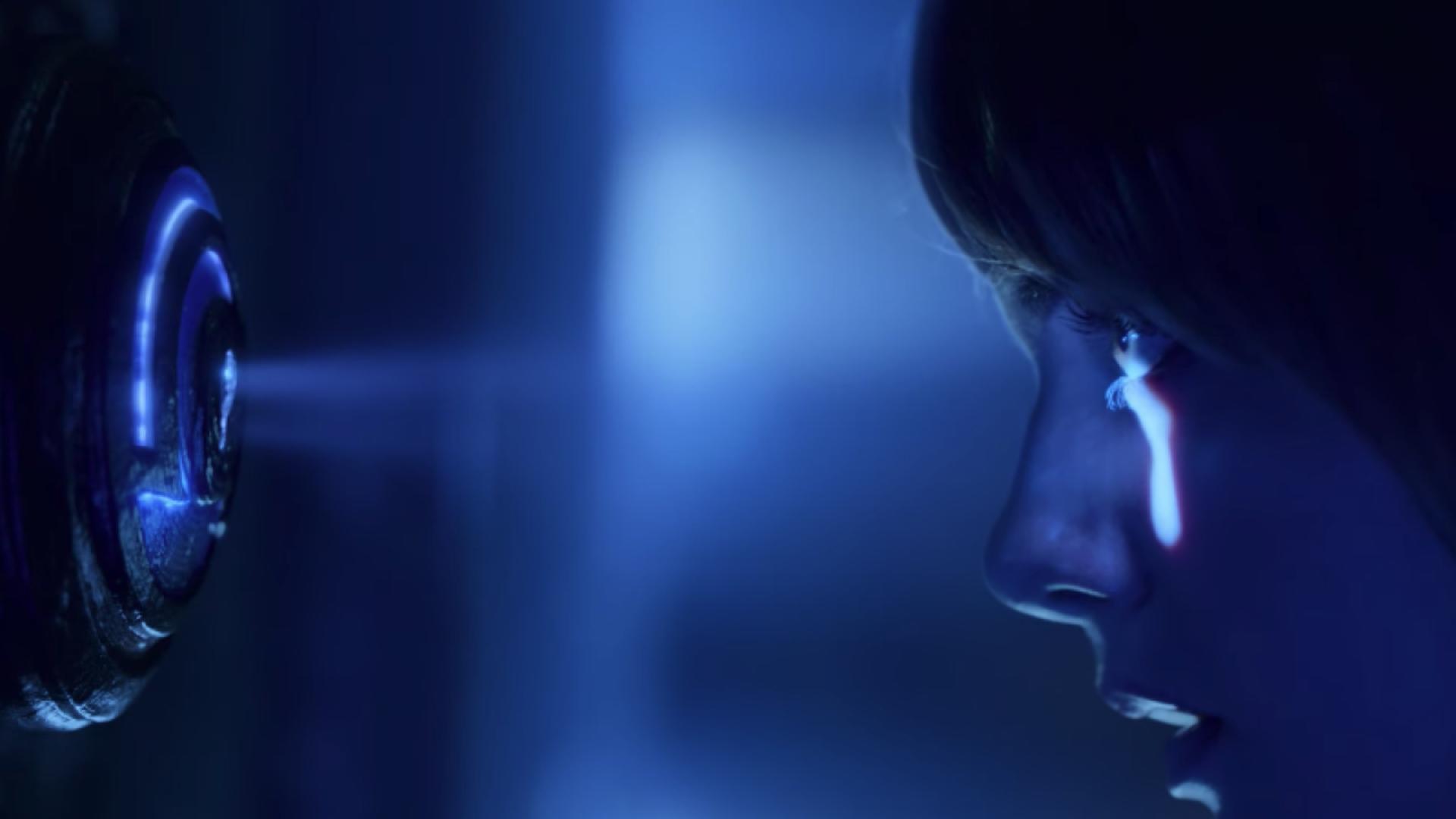 un ragazzo sta spiando dal buco di una serratura - nerdface