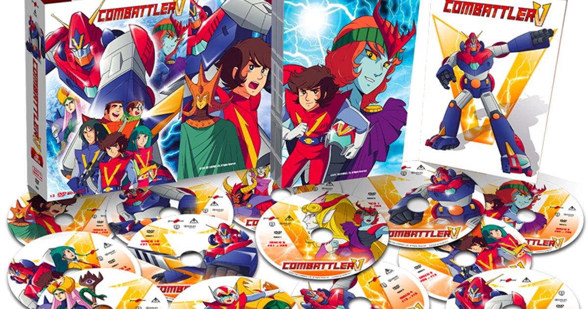 packaging e contenuto del box set in dvd di anime factory di combattler V - nerdface