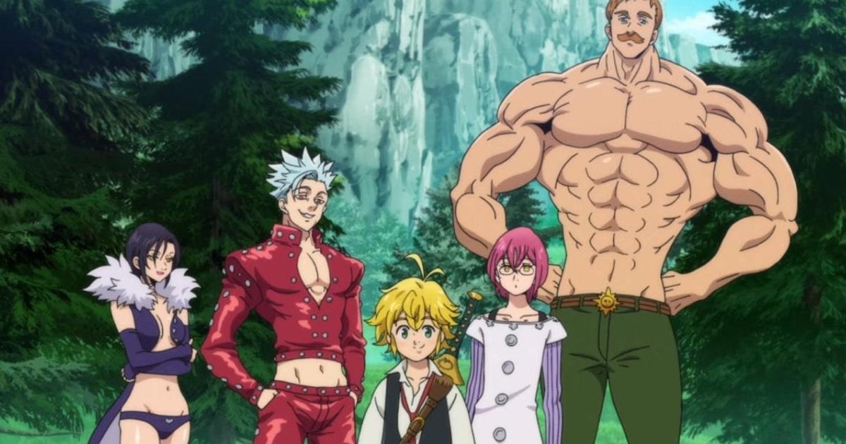 il gruppo dei sette peccati capitali riunito in un bosco - nerdface