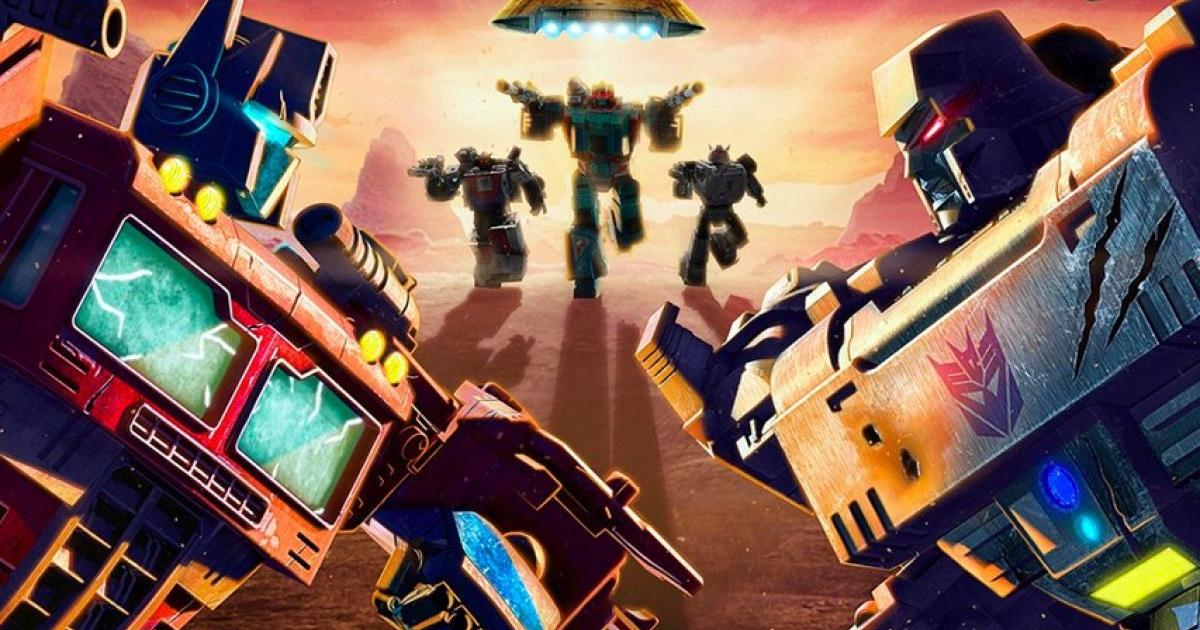 optimus prime e megatron si affrontano uno di fronte all'altro, mentra da lontano accorrono alcuni transformers - nerdface