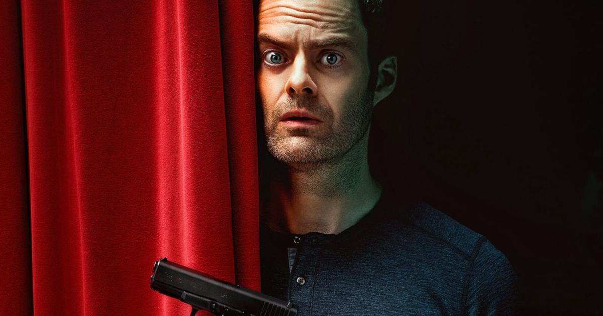 barry si affaccia da un sipario con sguardo preoccupato e in basso spunta un pistola - nerdface