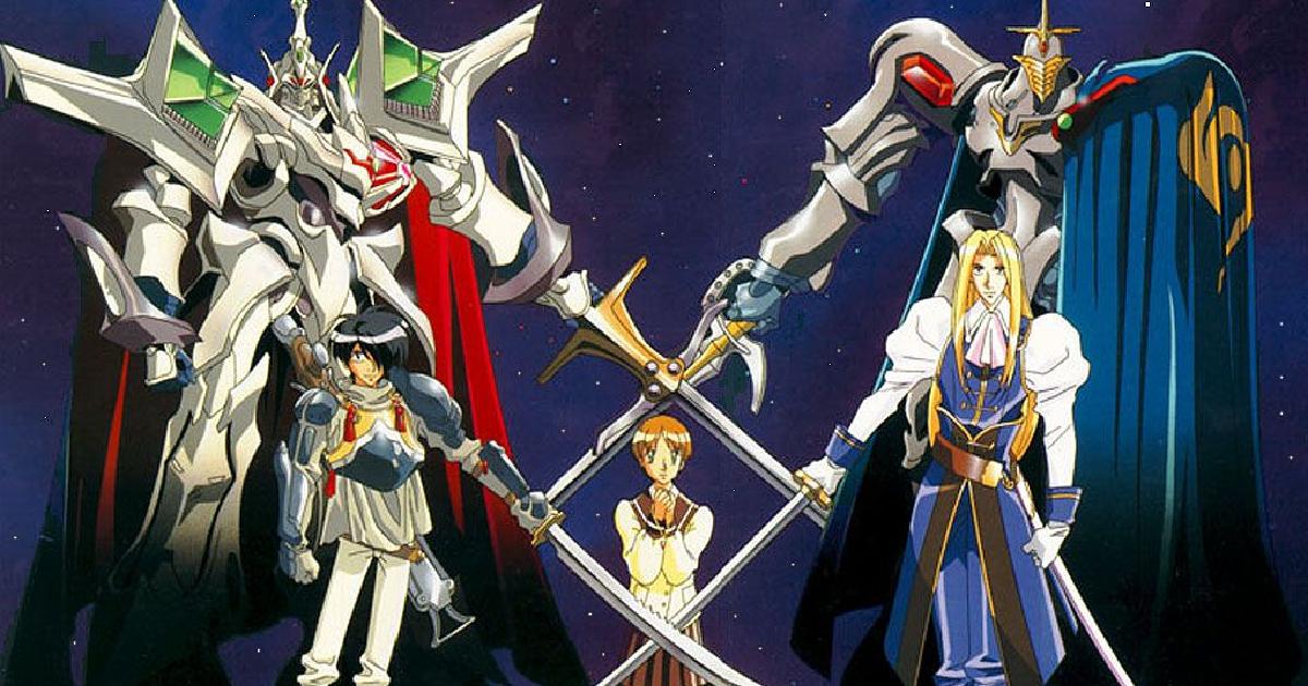 due mecha e due cavalieri sono in posa a proteggere una ragazza - nerdface