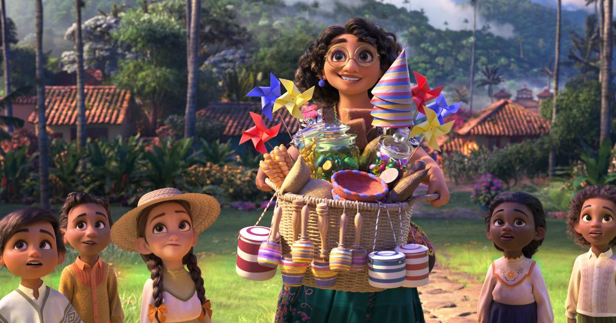 mirabel, la protagonista di encanto, ha appena ricevuto un cesto di fuochi d'artificio riservato a chi non ha nessun potere - nerdface