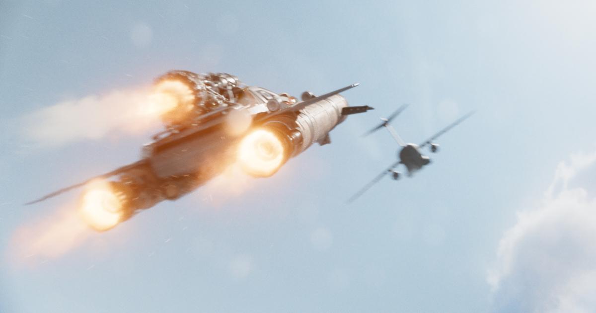 un'automobile dotata di tre razzi insegue in cielo un aereo: la meraviglia di fast & furious - nerdface