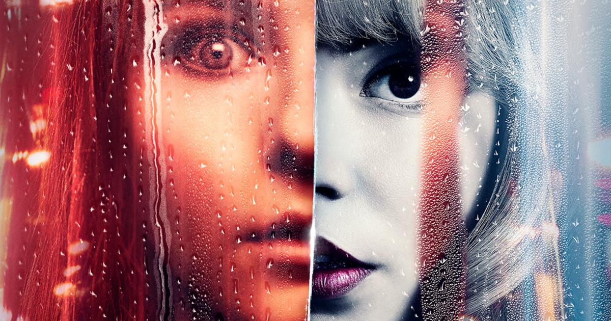 un dettaglio del poster di ultima nitte a soho, coi volti delle due protagoniste uno accanto all'altro - nerdface