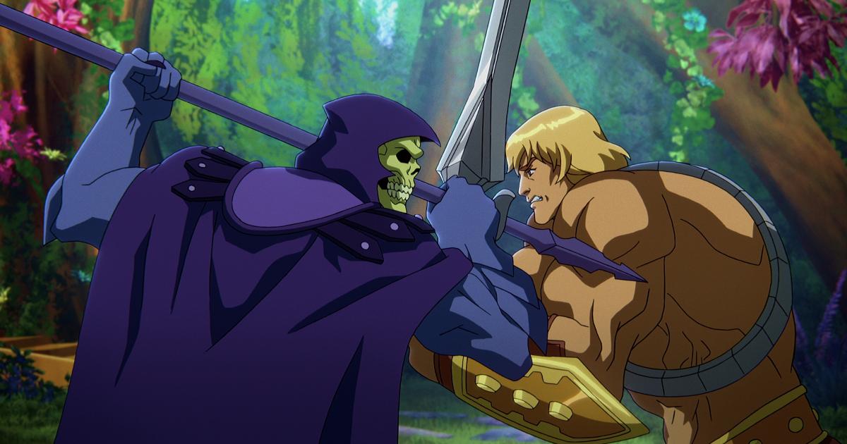 he-man e skeletor incrociano le armi nelò loro ennesimo duello - nerdface