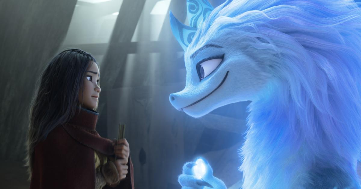 raya e il drago azzurro si guardano negli occhi - nerdface