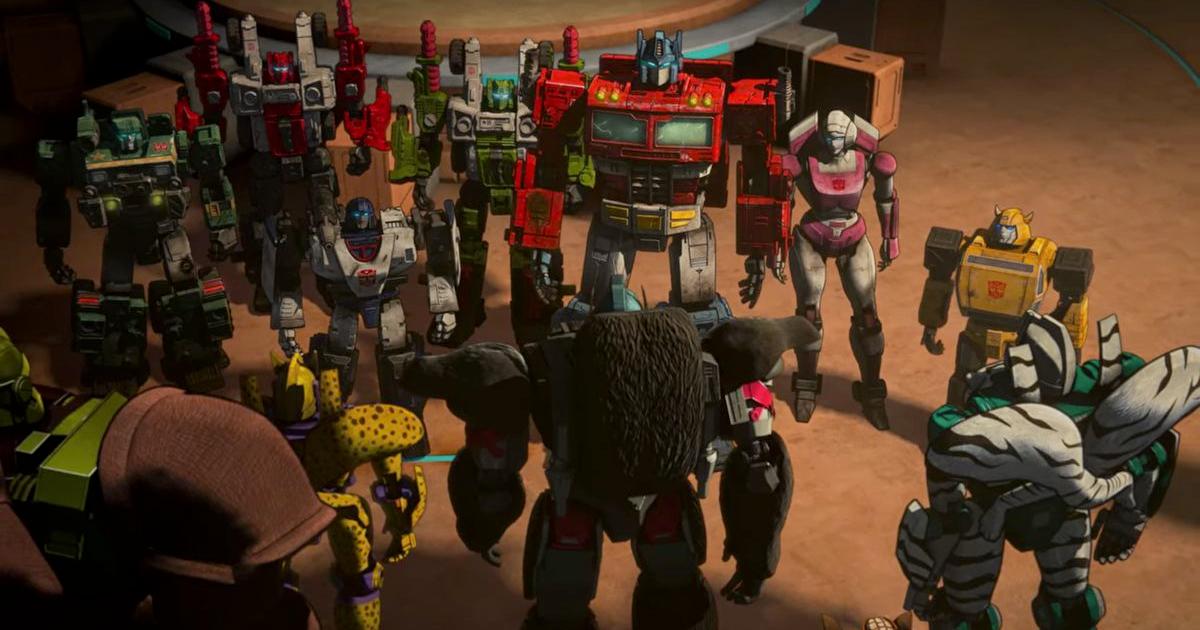 autobot e maximal fanno la reciproca conoscenza all'interno dell'arca - nerdface