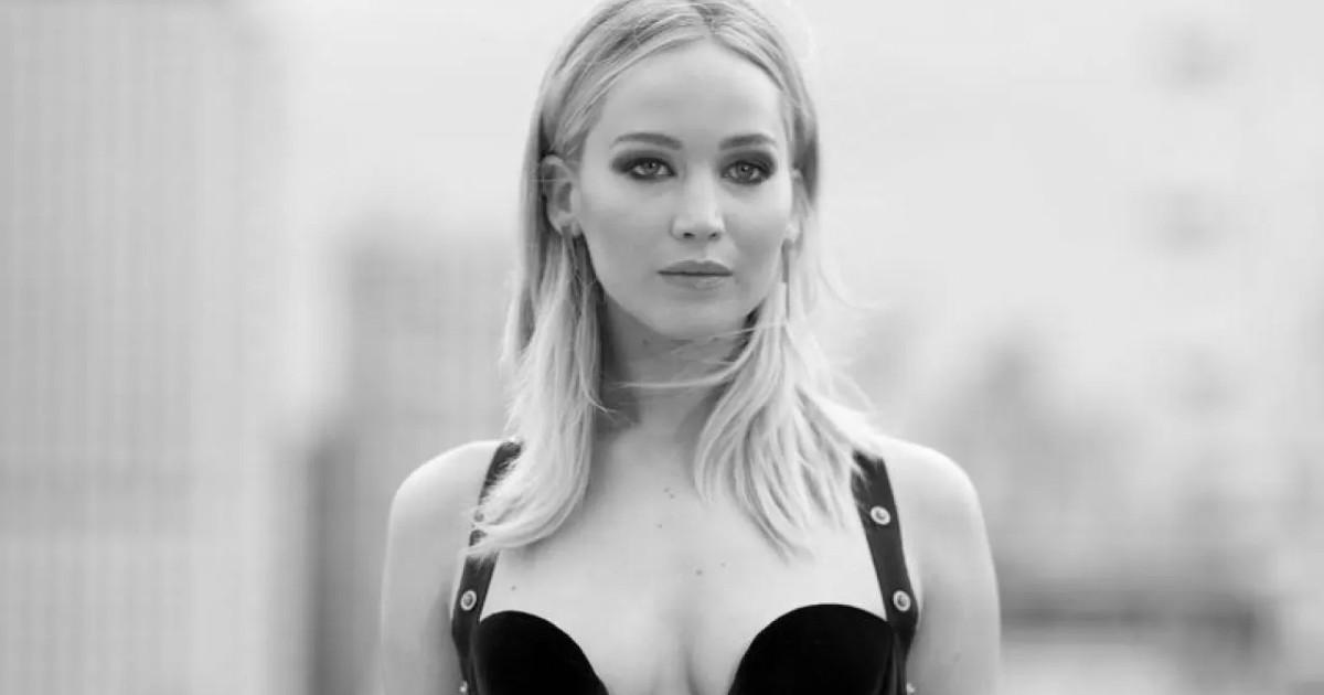 Primo piano di Jennifer Lawrence - nerdface