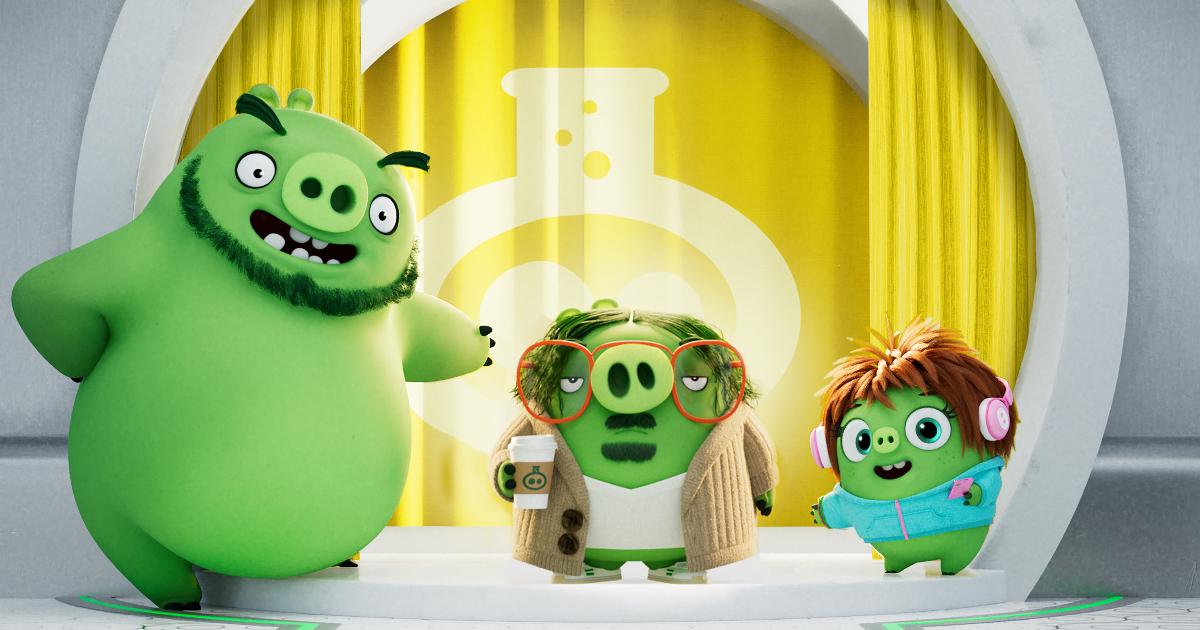 tre maialini verdi invitano a entrare in una casa - nerdface
