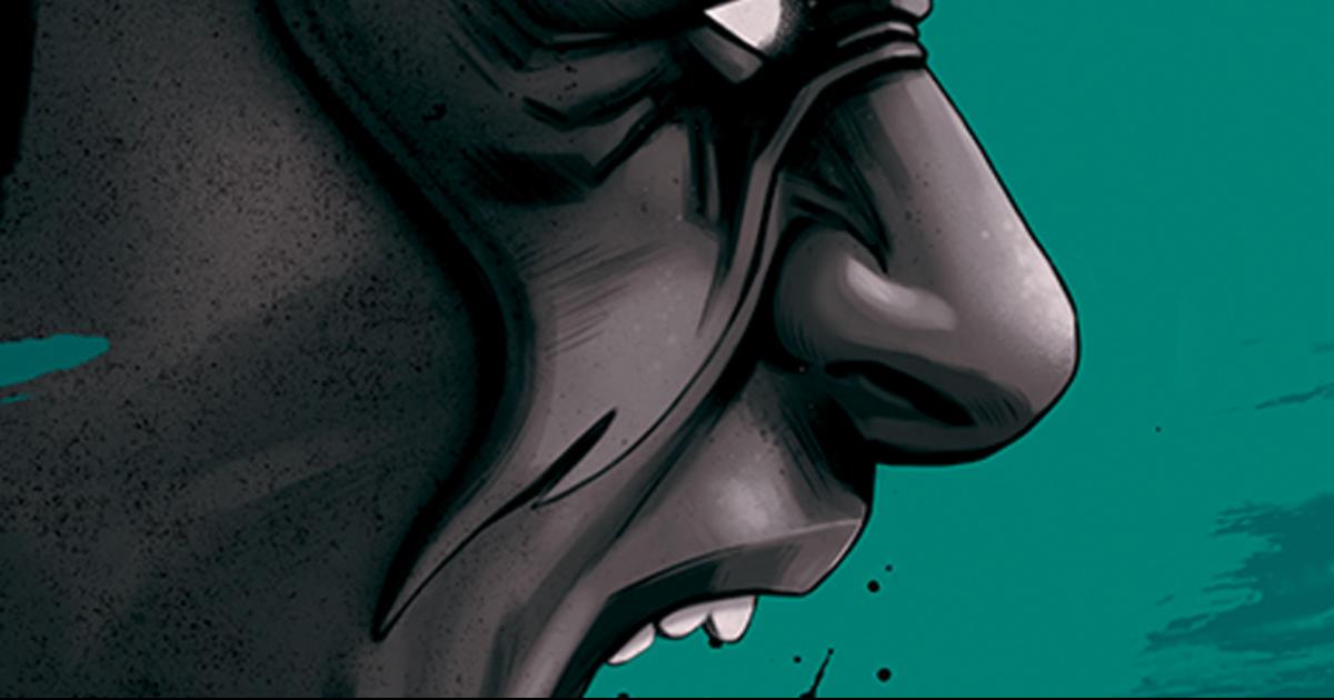 Estratto dalla copertina ufficiale del libro Fumetti e Potere - nerdface