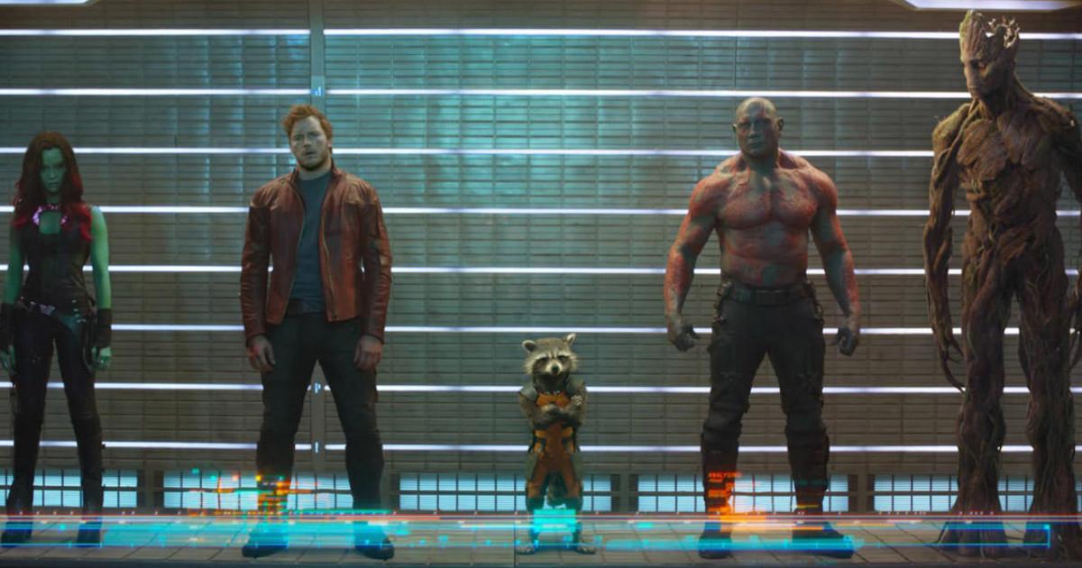 Tutti e cinque i membri de I guardiani della galassia schierati - nerdface