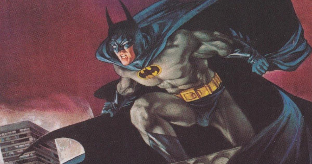 Batman pronto a spiccare un salto da un tetto - nerdface