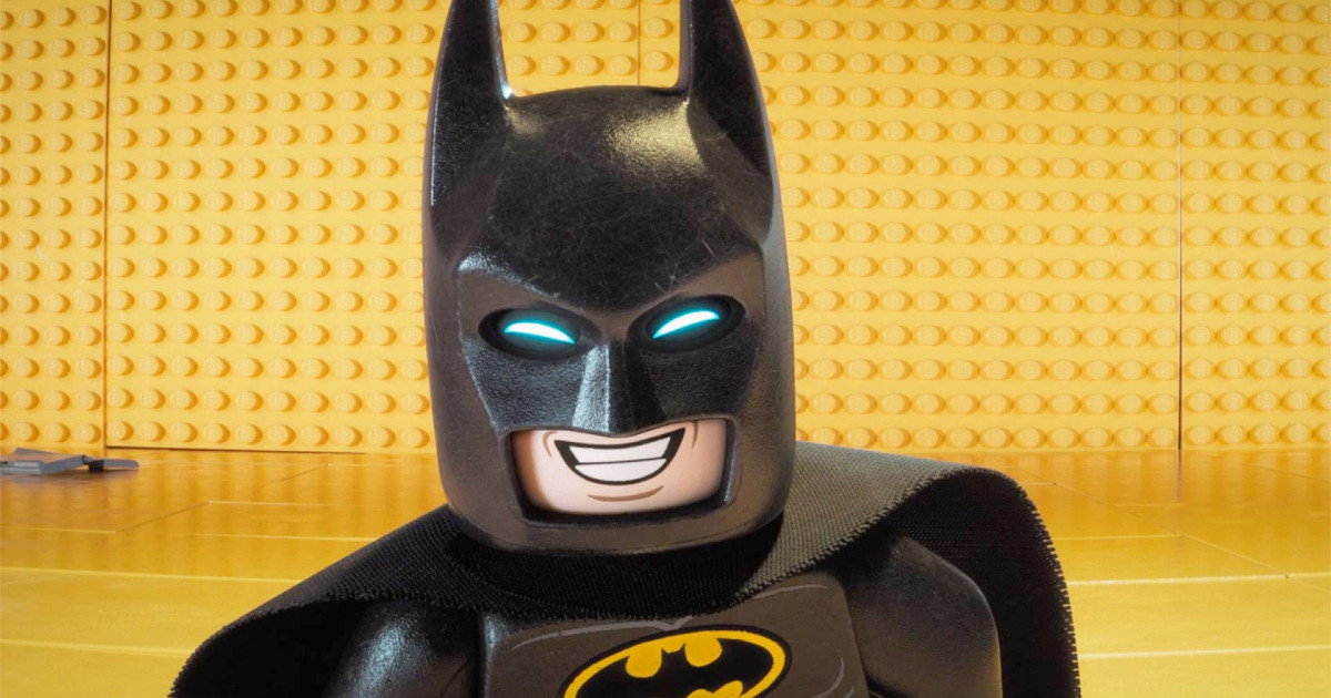 Primo piano di Lego Batman - nerdface