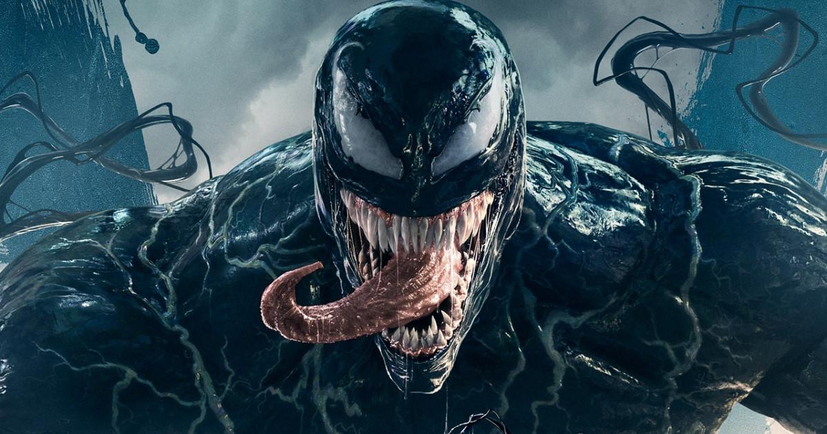 Primo piano del viallain Venom - nerdface