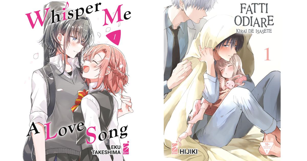 le due copertine dei manga di star comics - nerdface