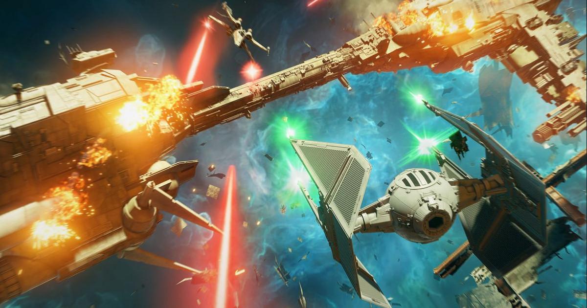 Una battaglia spaziale in Star Wars Squadrons - nerdface