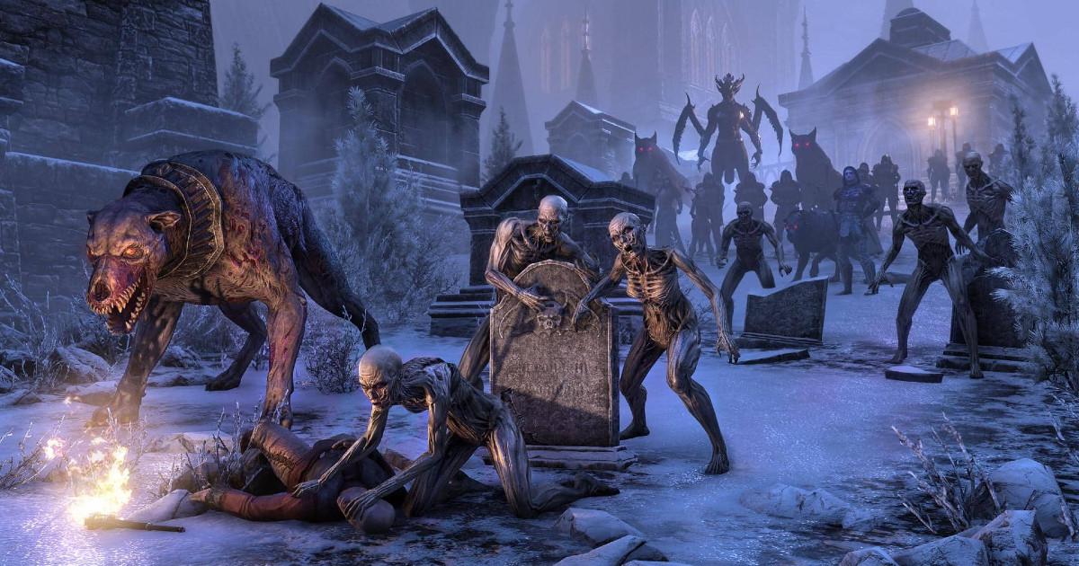 Un'orda di nemici in un cimitero - nerdface