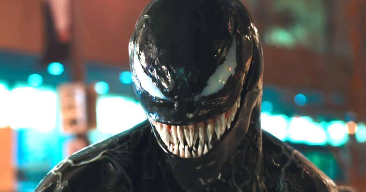 Primo piano del villain venom - nerdface