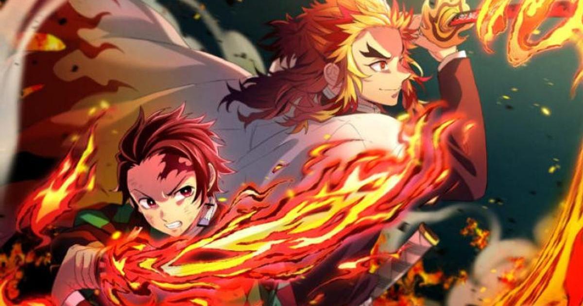 tanjiro e il pilastro delò fuoco combattono insieme contro un nemico comune - nerdface