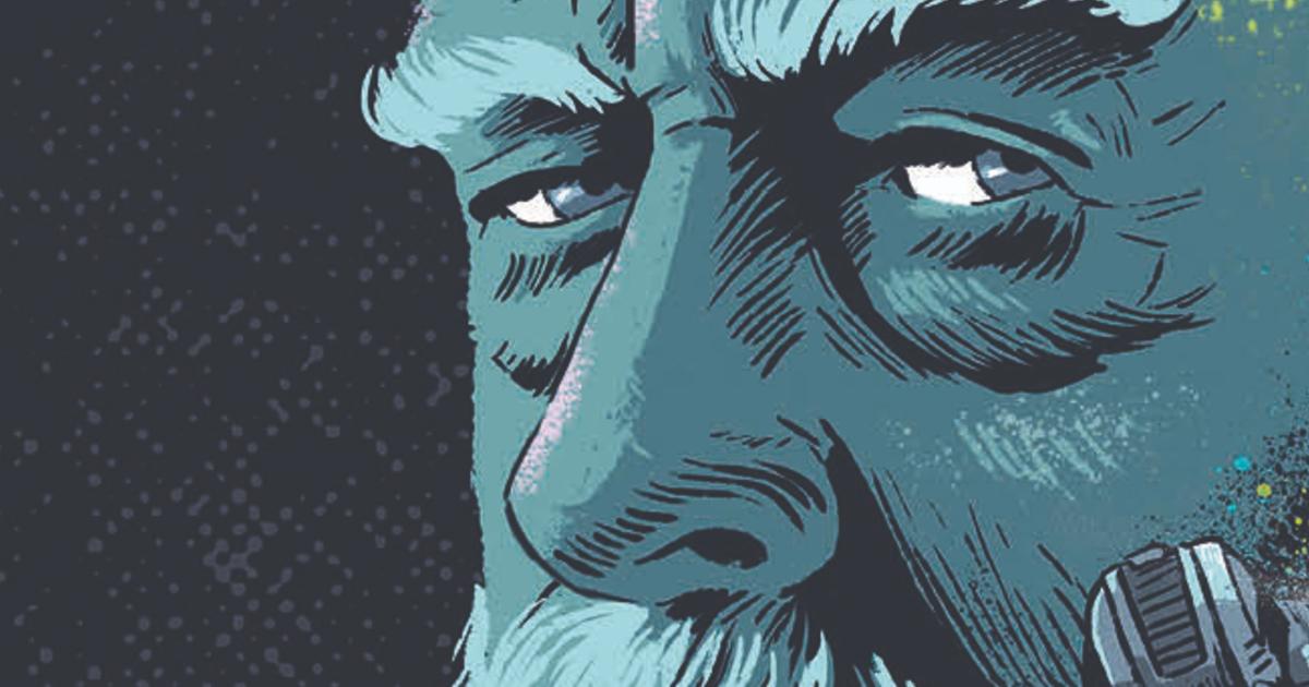 lo sguardo di ridley scott disegna da nino cammarata per la copertina del saggio - nerdface
