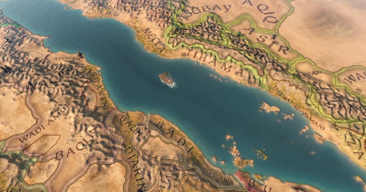 una mappa mostra un fiume sul quale naviga una caravella - nerdface
