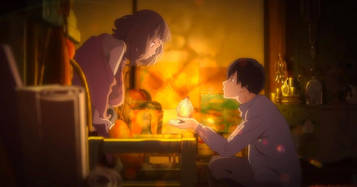 i due protagonisti sono seduti uno di fronte all'altro davanti una lampada illuminata - nerdface