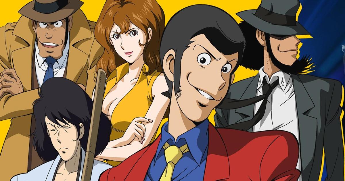 i quattro della banda più l'ispettore zenigata in un banner promozionale - nerdface