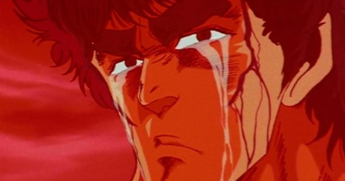 ken il guerriero piange: un'immagine scelta per ceòebrare la tristezza per la scomparsa del suo animatore, masami suda - nerdface