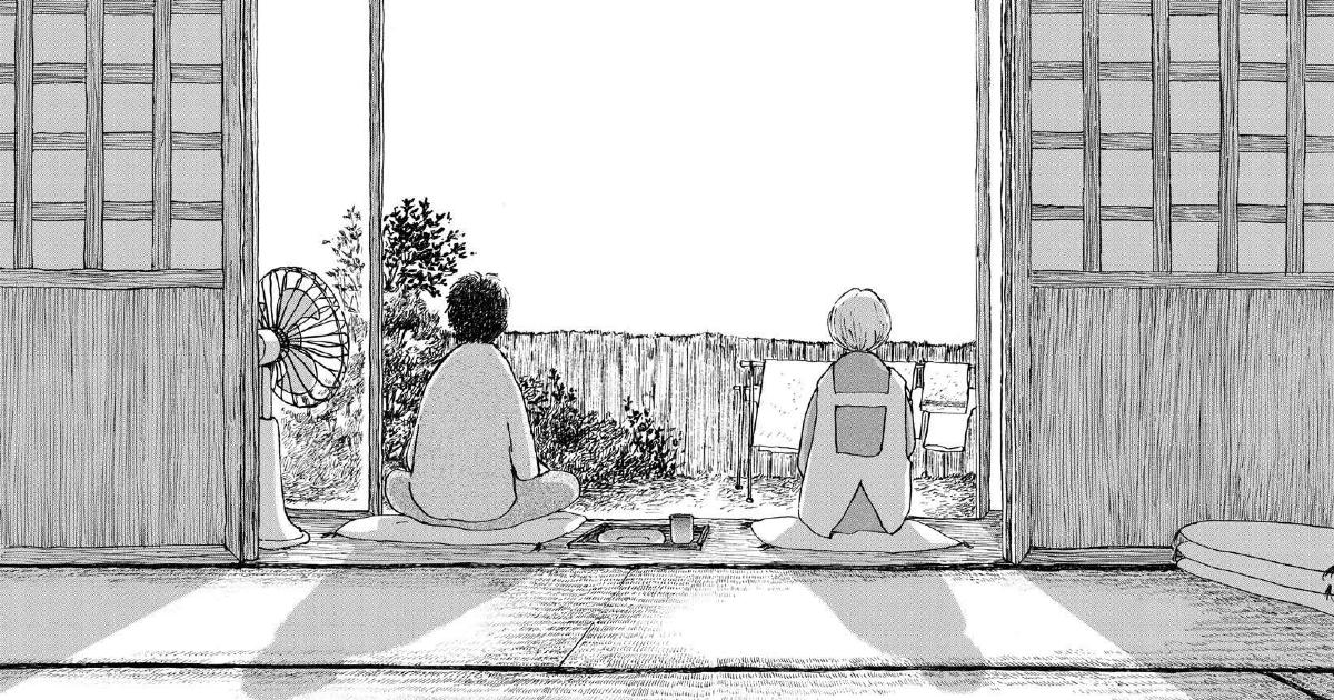 due donne parlano sedute nel giardino di fronte alla casa - nerdface