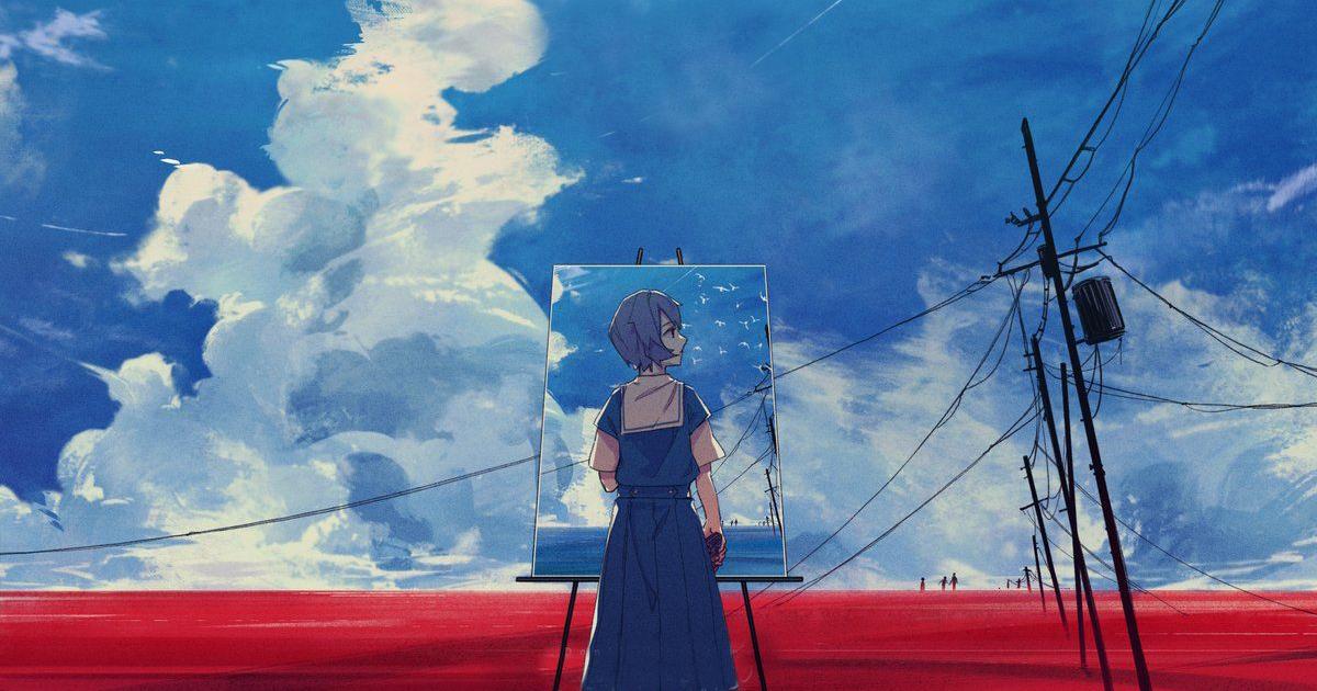una delle protagoniste sembra dipingere un quadro da un altro quadro - nerdface