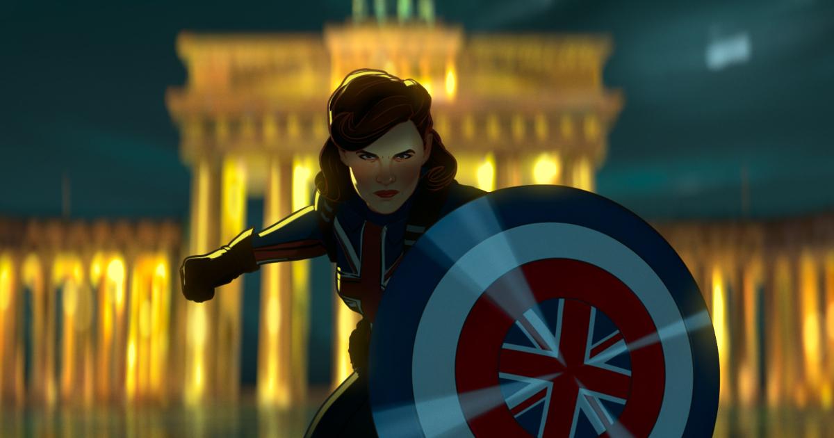 captain carter sfoggia il suo scudo con la bandiera britannica - nerdface
