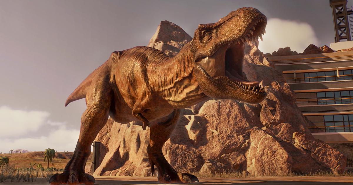un t-rex ruggisce in tutto il suo splendore - nerdface