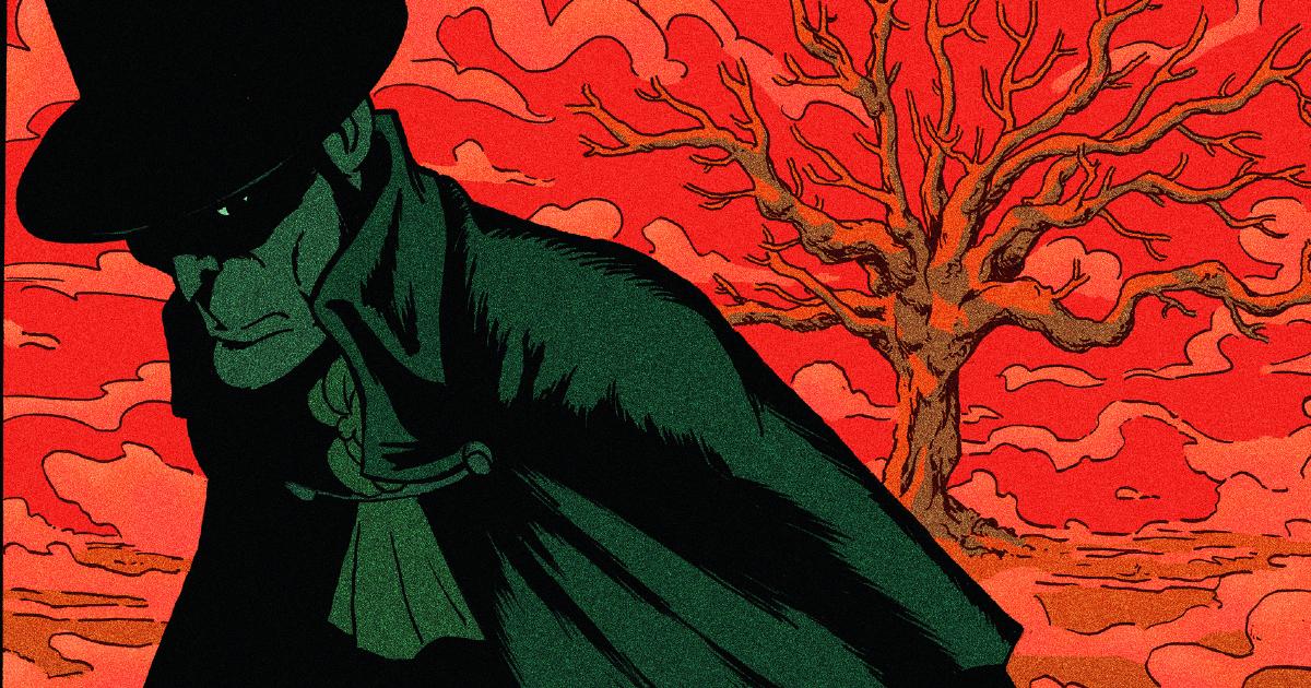 il dettagliop dell'oscuro protagonista del fumetto - nerdface