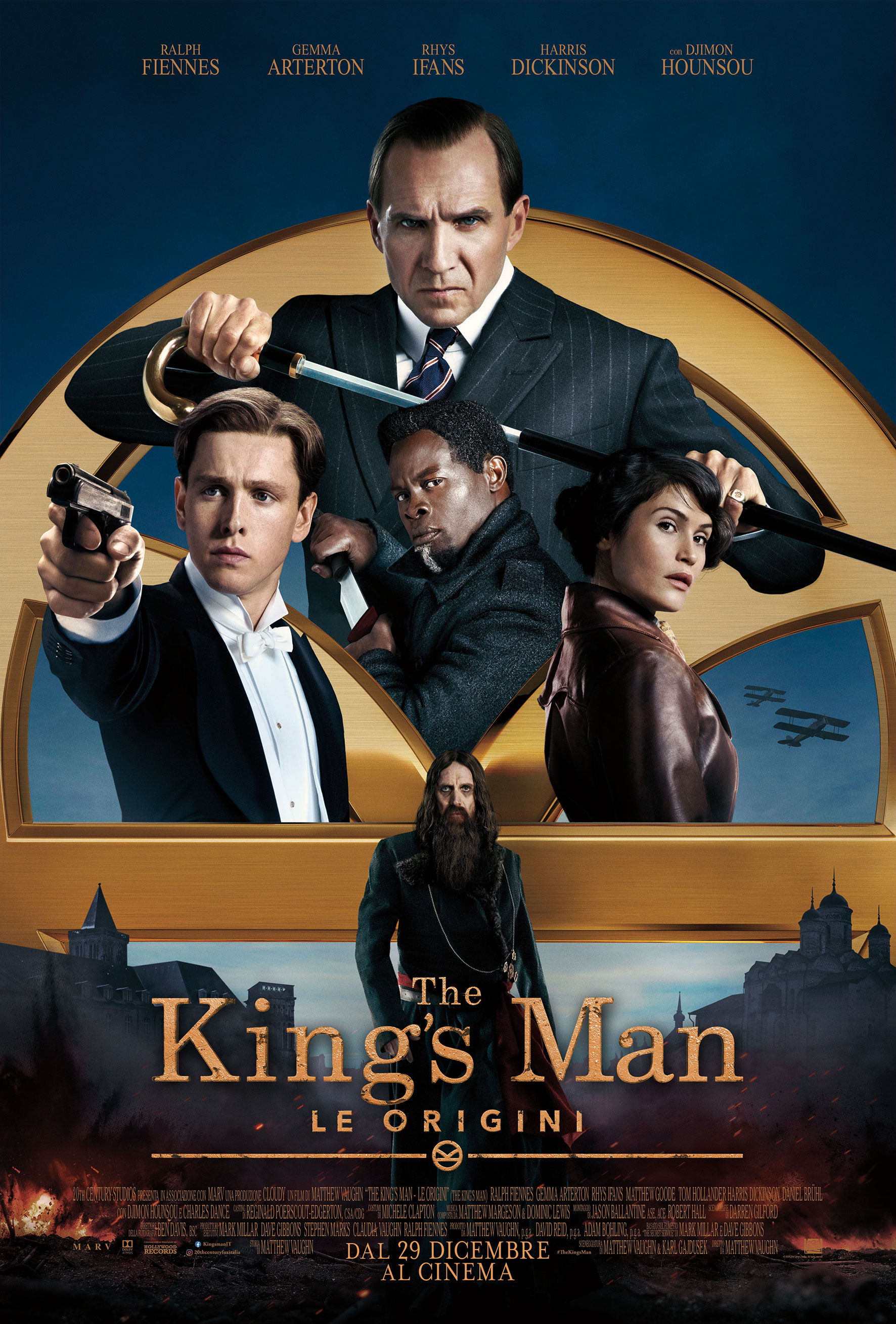 il poster ufficiale di king's mann le origini - nerdface
