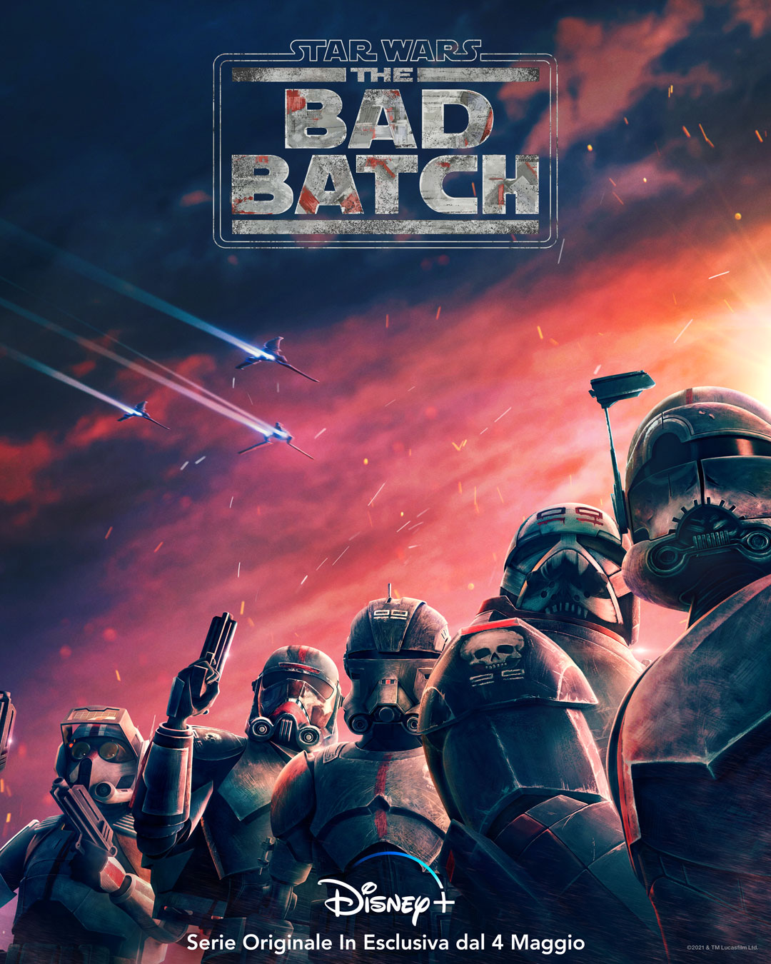 il poster ufficiale di star wars the bad batch - nerdface