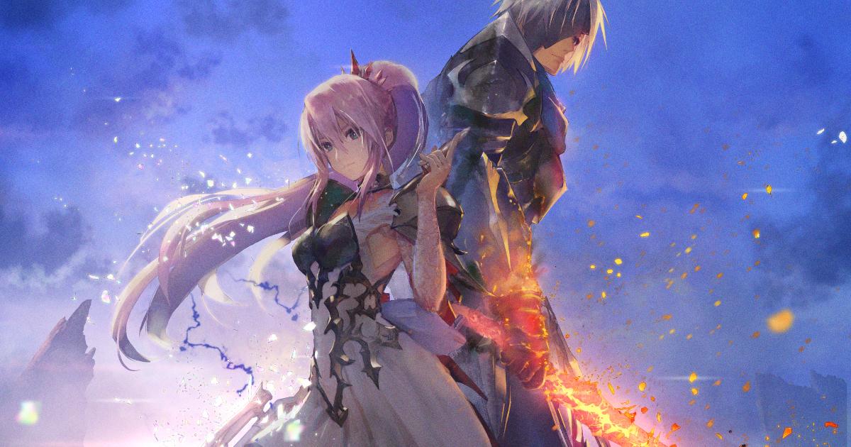 la key art di ales of arise mostra due personaggi, un uomo e una donna - nerdface