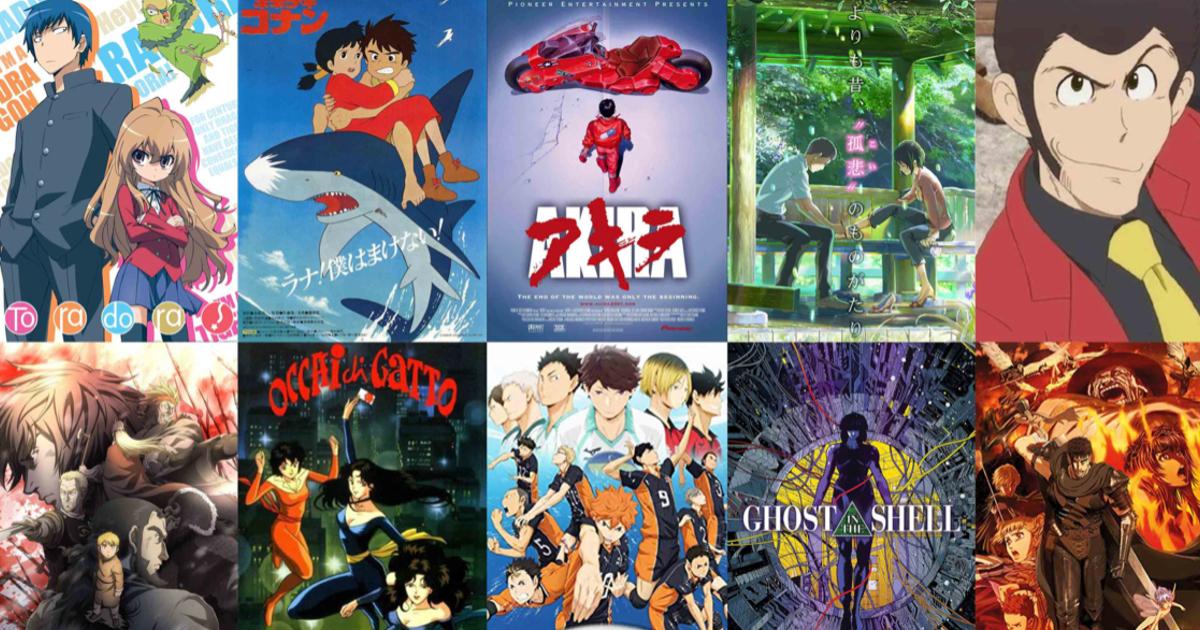 un mosaico dei vari anime di prime video - nerdface