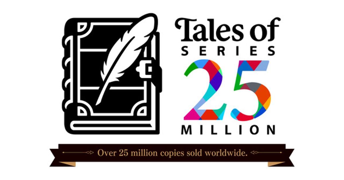 Un'immagine ad hoc per festeggiare le 25 Milioni di copie della la serie Tales of
