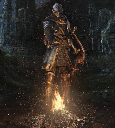 la cover della remastered mostra il cavaliere davanti a un falò - nerdface