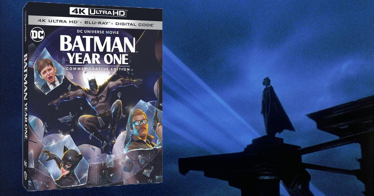 la cover dell'edizione americana dei dieci anni di batman year one - nerdface
