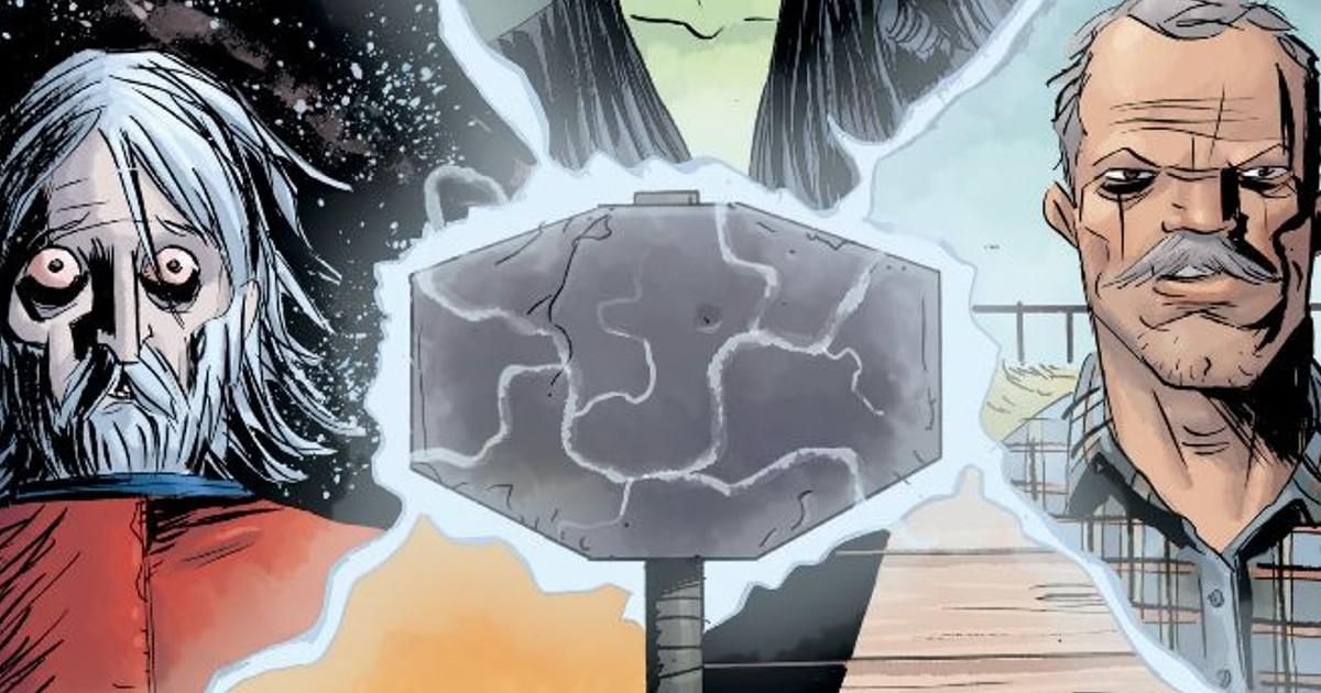 Estratto della copertina del quinto volume di Black Hammer - nerdface