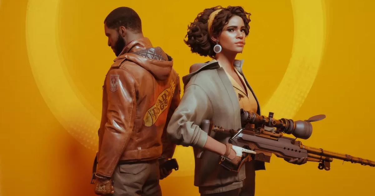 i protagonisti del gioco spalla a spalla, lei imbraccia un fucile di precisione - nerdface