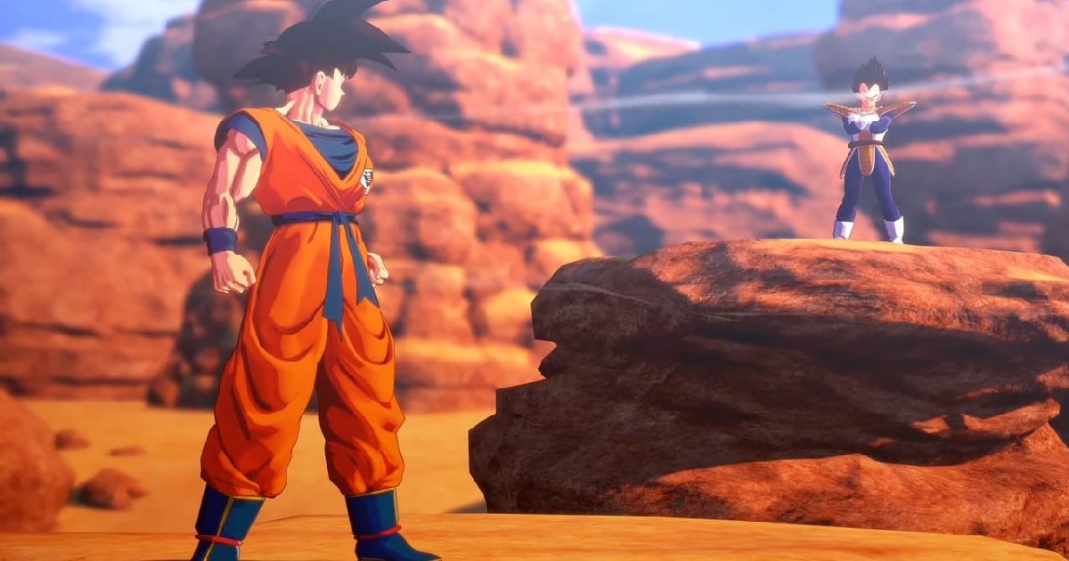 Goku e Vegeta si sfidano nel deserto - nerdface