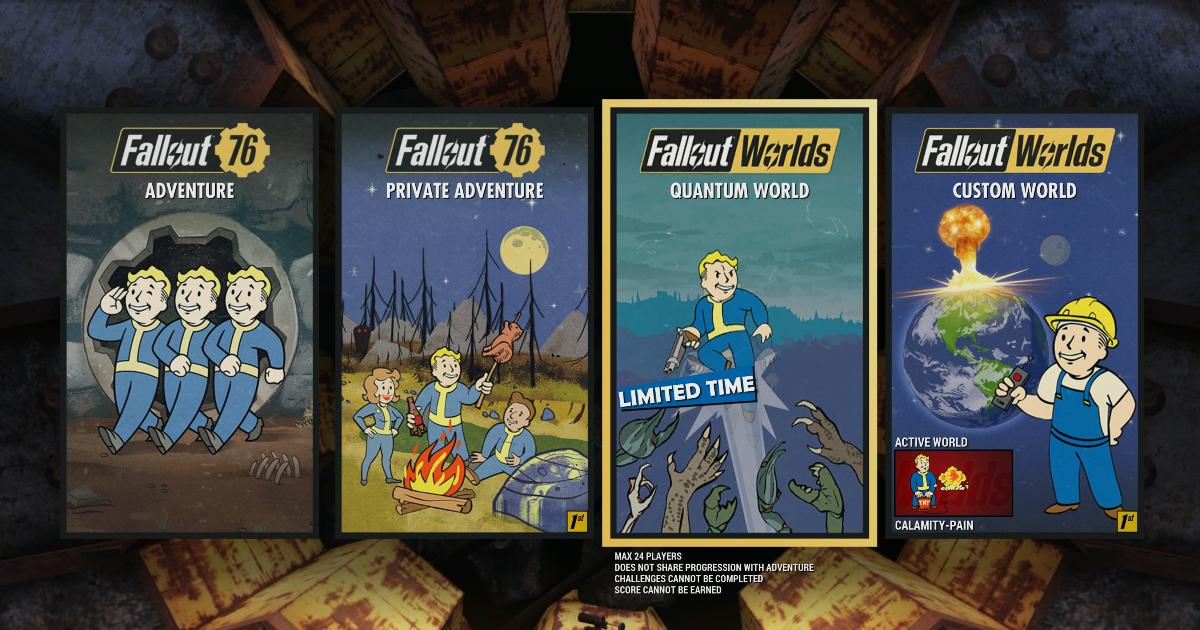 un banner con le varie copertine di fallout worlds - nerdface