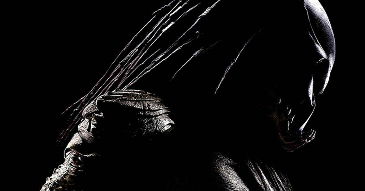 un ritratto di profilo del predator, con la maschera e i dredlock d'ordinanza - nerdface