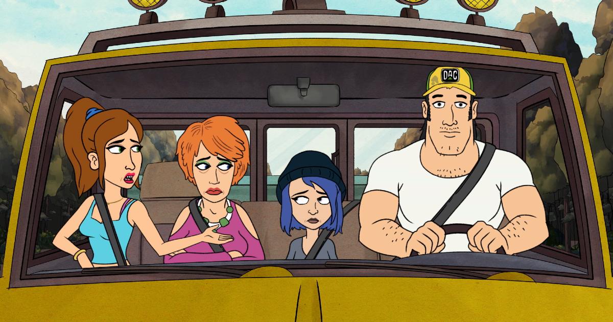la famiglia harts è nel furgone - nerdface