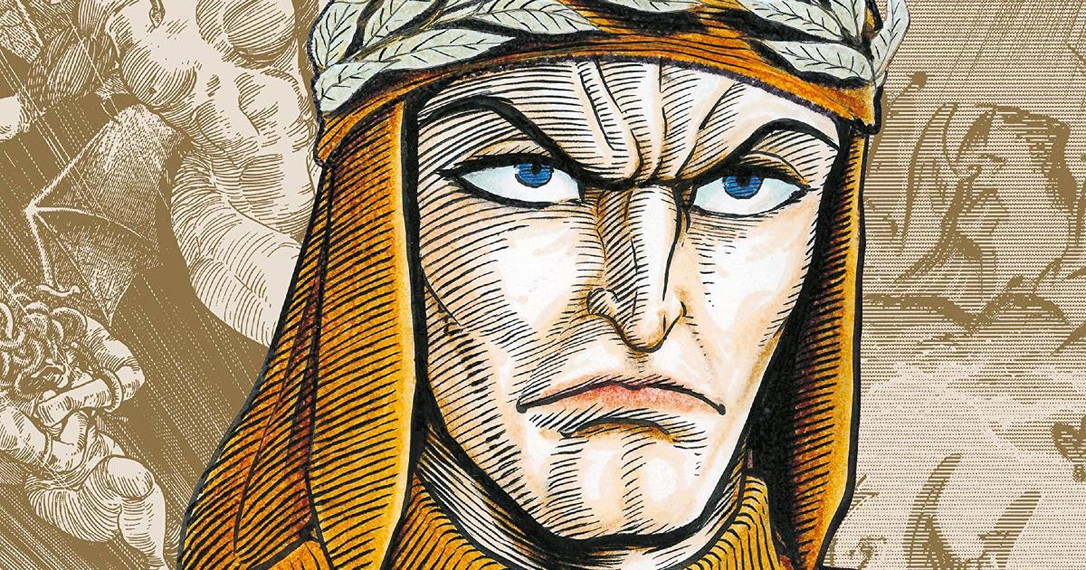 il ritratto di dante fatto da go nagai per la sua versione illustrata della commedia - nerdface