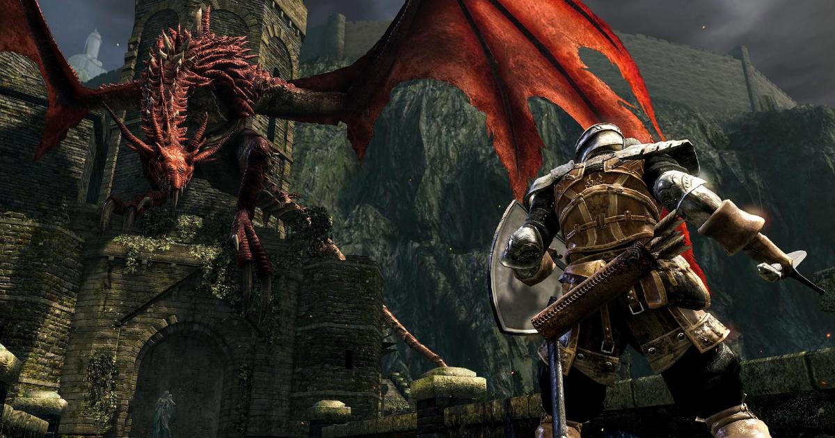 un cavaoiere sta èer morire contro un drago rosso - nerdface